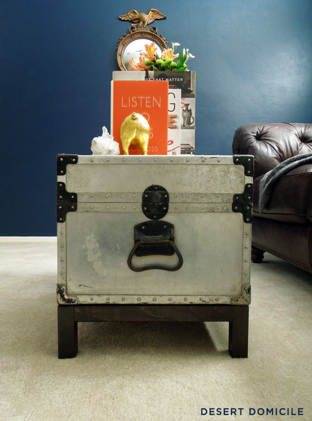 Winter Pinterest Challenge: DIY Trunk Coffee Table | Desert Domicile