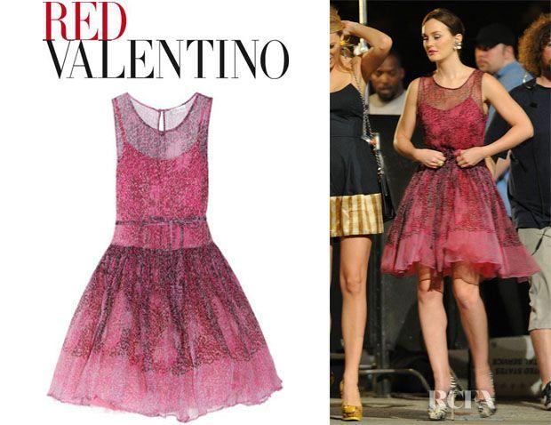 L m g band red dress valentino