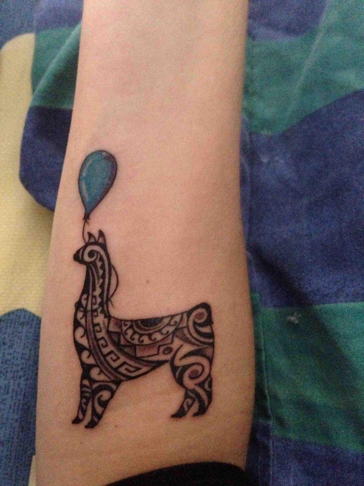 llama w/ balloon (first tattoo!) Cocos- Cusco, Peru - Imgur
