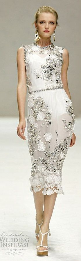 Dolce & Gabbana ~ Floral Dress, White --   LOVE, LOVE, LOVE this dress !!! (sandpipersong)
