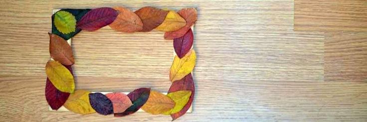 Cum sa decorezi o rama foto cu frunze uscate