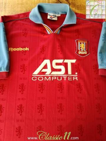 8a9368b5b59 Official Reebok Aston Villa home football shirt from the 1995/96 season.