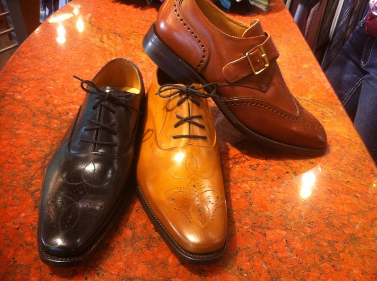 Loake shoes from England! Far right is a monk strap a great alternative to laces, without being a loafer!    These shoes have leather upper, and a Good Year Welt leather sole.