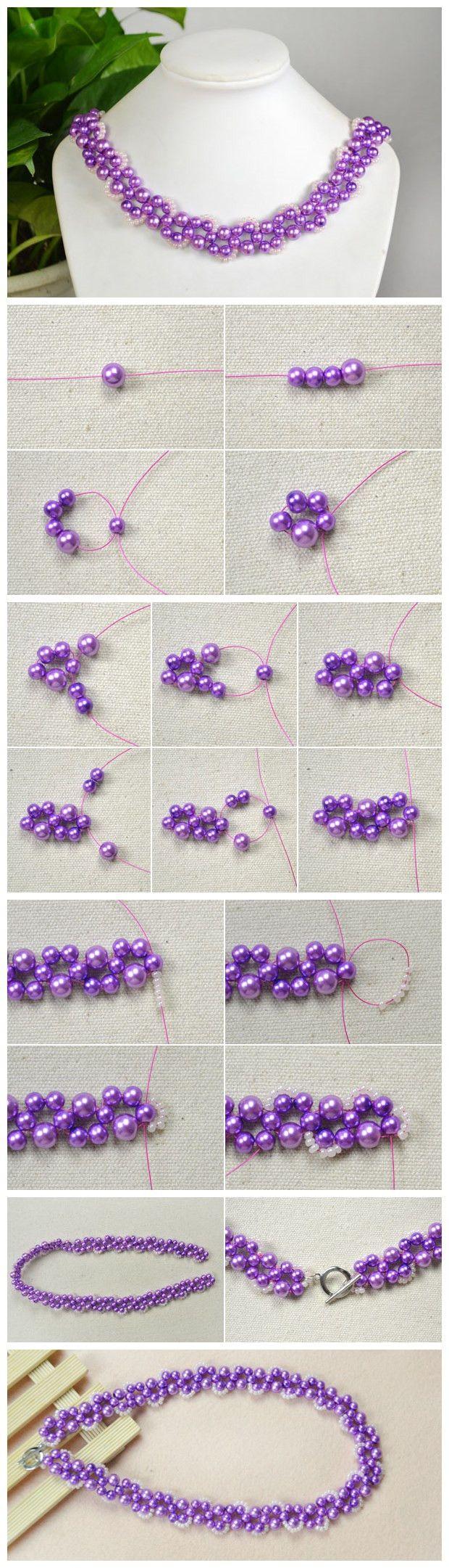 #Beebeecraft tutorials on How to make Your Own Beautiful #PurpleBead #Necklace