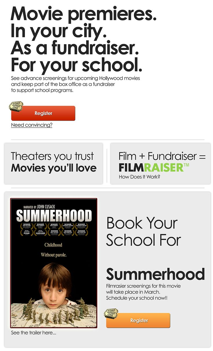 i am absolutely in love with this fundraising idea the movie premier