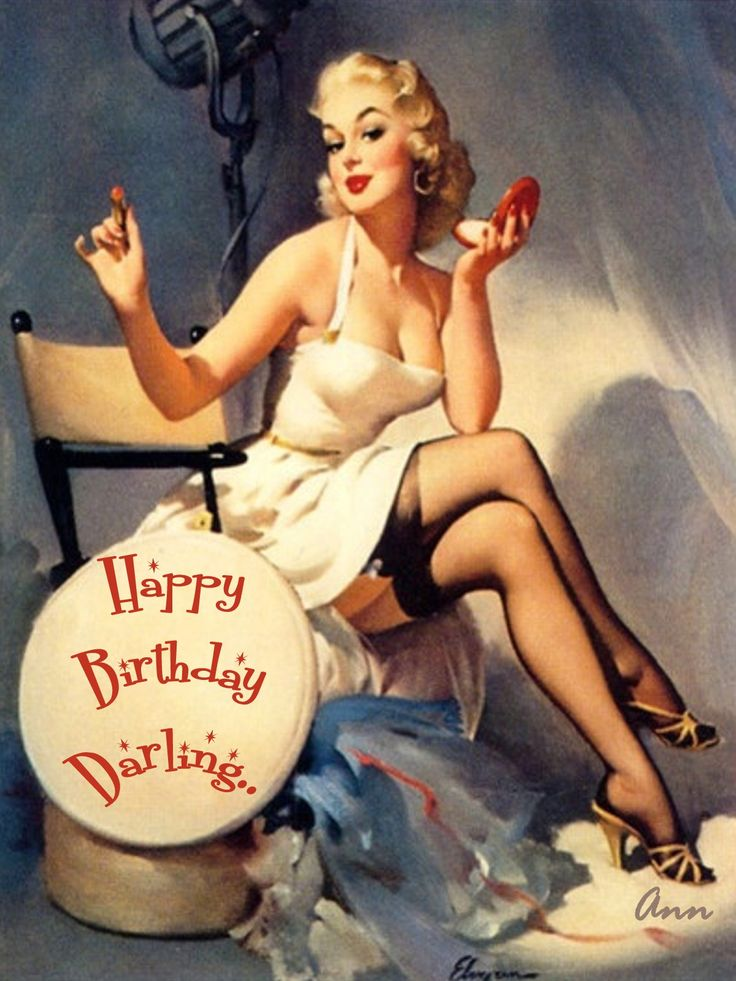 Gil Elvgren - Happy Birthday If I had a man, I'd recreate this for his bday cause it's so adorable!