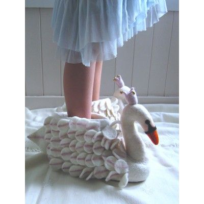 Odette Swan Ladies Slippers