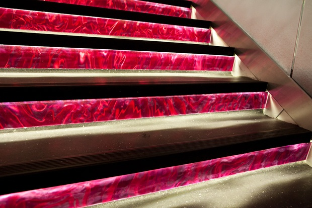 Lava Flow like Stairway at Pink Elephant Thai in Vancouver