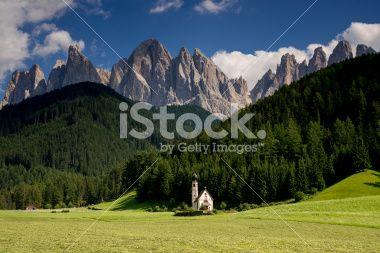 San Giovanni (Val di Funes) Royalty Free Stock Photo