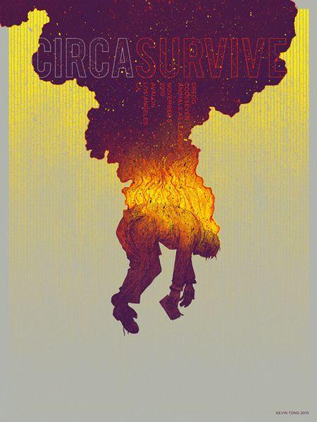Circa Survive gig poster by Kevin Tong