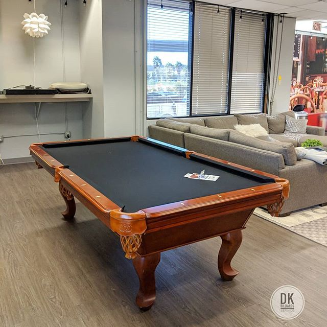 Finished Moving This 8ft Abc Tiburon Pool Table In Irvine The Business Is Called Hyperdisk Marketing New Black Felt Billiar Pool Table Billiards Play Pool