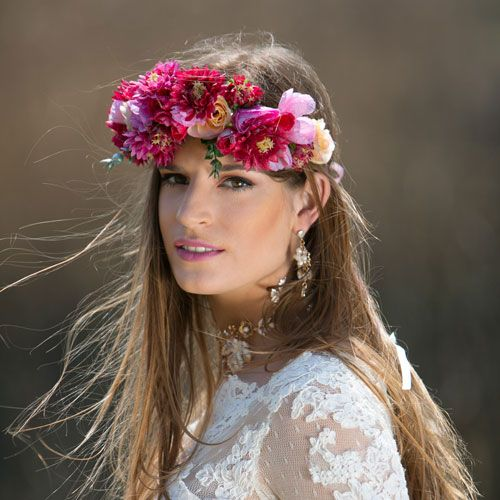 With love in her eyes & flowers in her hair... wear a flower crown!