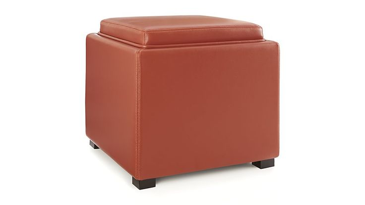 Stow Persimmon 17 Quot Leather Storage Ottoman Redecorating