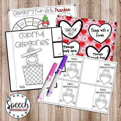 FREE Speech Therapy Valentine's Day Activities