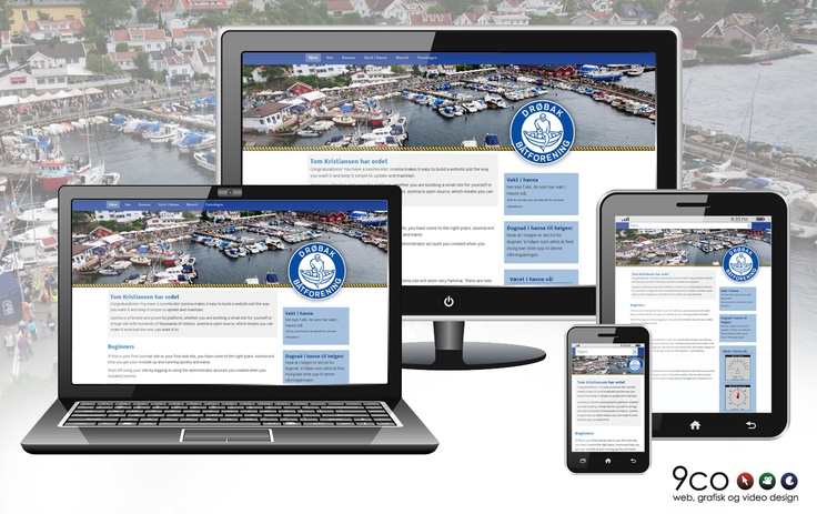 This is the new webresponsiv homepage we made for the boat association in Drøbak, Norway