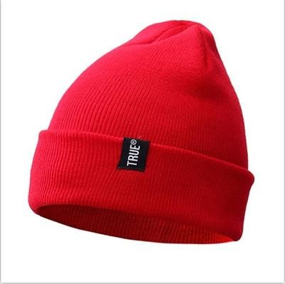 Letter True Casual Beanies for Men Women Fashion Knitted Winter Hat Solid Color Hip-hop Skullies Hat Bonnet Unisex Cap Gorro – Hat