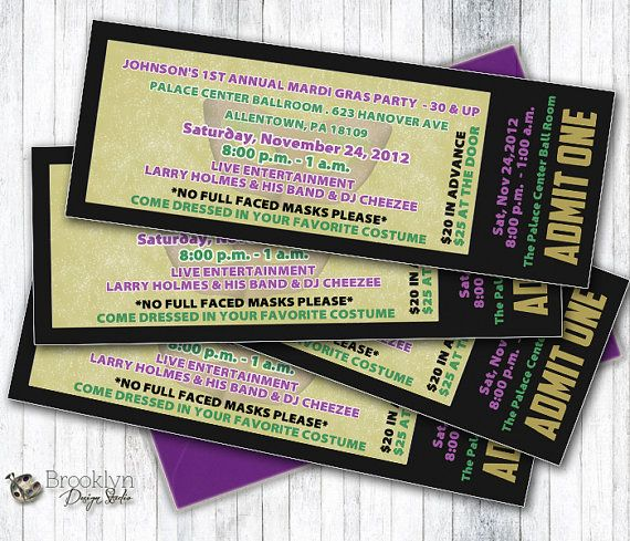 123 best Ticket images on Pinterest Event tickets, Print - event ticket template word