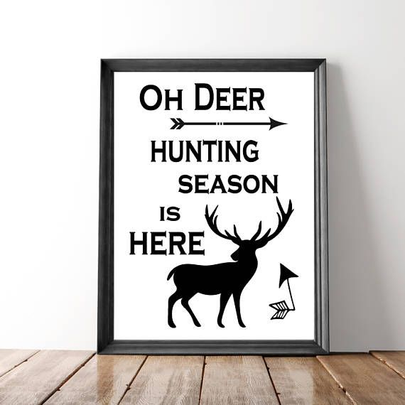 Deer Hunting Print Stag Print Digital Prints Deer Print