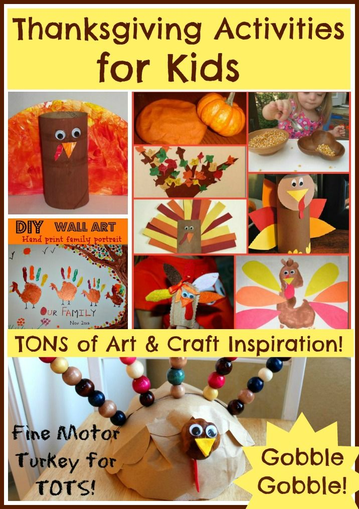 TONS of Thanksgiving Activities for kids!