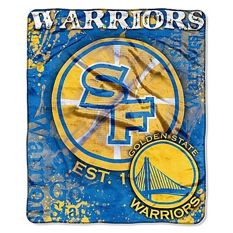 NBA Golden State Warriors Super-Plush Raschel Throw Blanket