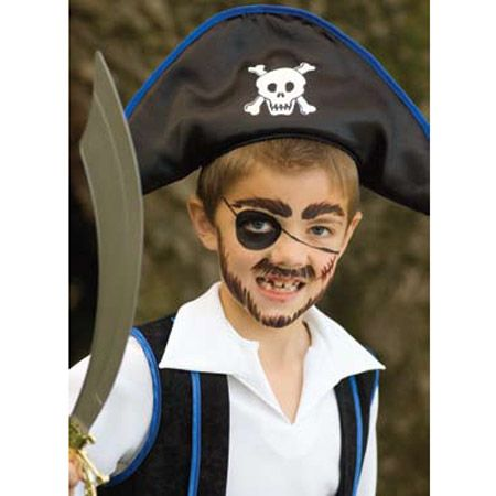 Maquillage pirate fantome maquillage pirate fantome halloween pinterest peintures - Maquillage pirate homme ...