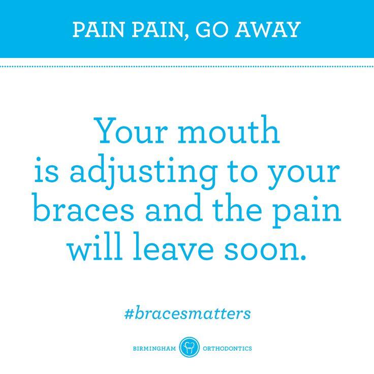 While you wait, try gargling salt water to ease the pain. #bracestips #bracesmatters #braces #braceshelp #bracespain #orthodontist #orthodontics #birmingham #bham