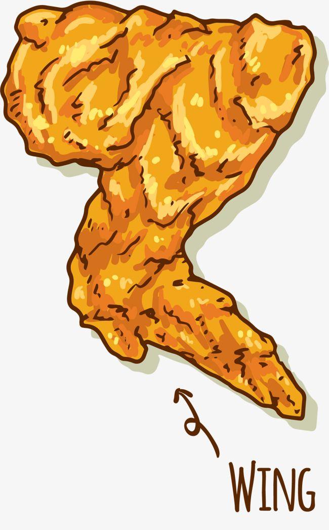 Fried Chicken Full Wings Chicken Illustration Fried Chicken Chicken Vector