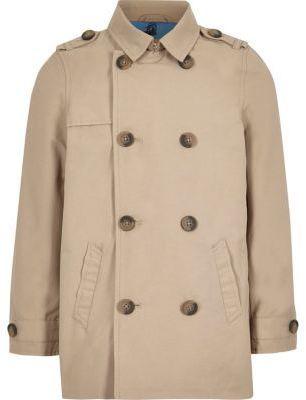 River Island Boys stone smart mac jacket
