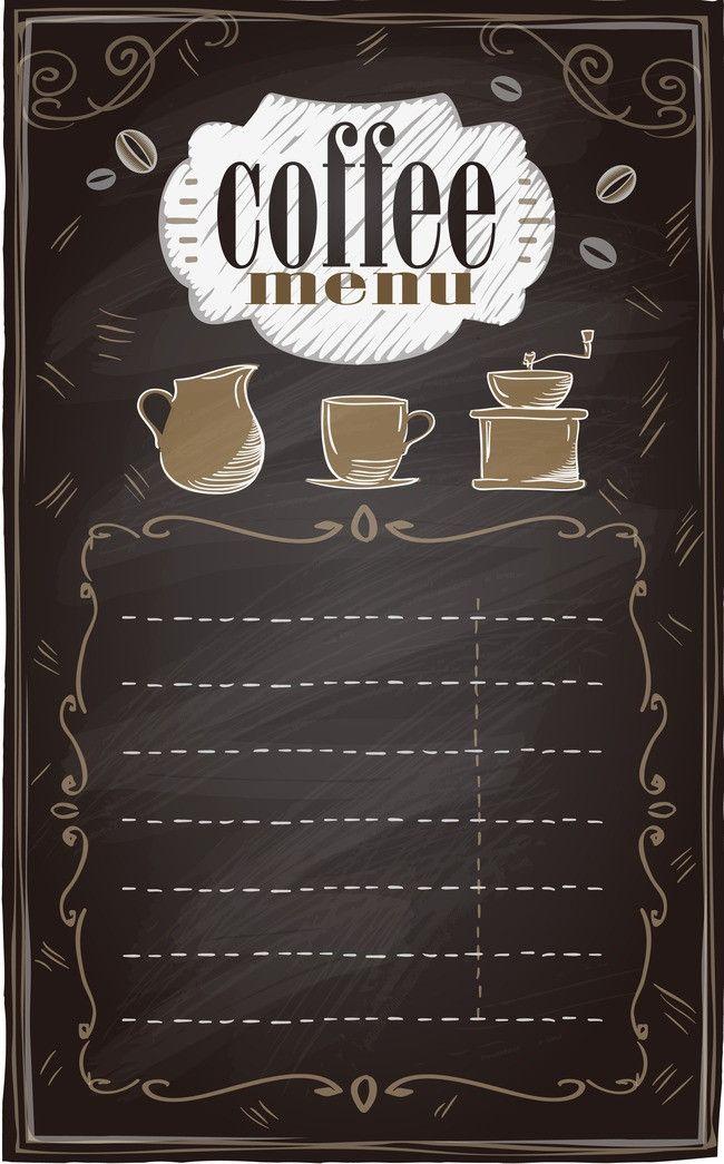 書夾 設計 黑板 夾克 背景 Coffee Menu Design Coffee Poster Design Coffee Design