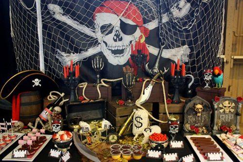 Ideas para la decoración de una fiesta pirata - clic AQUÍ para ver más! / Ideas for a pirate party decoration