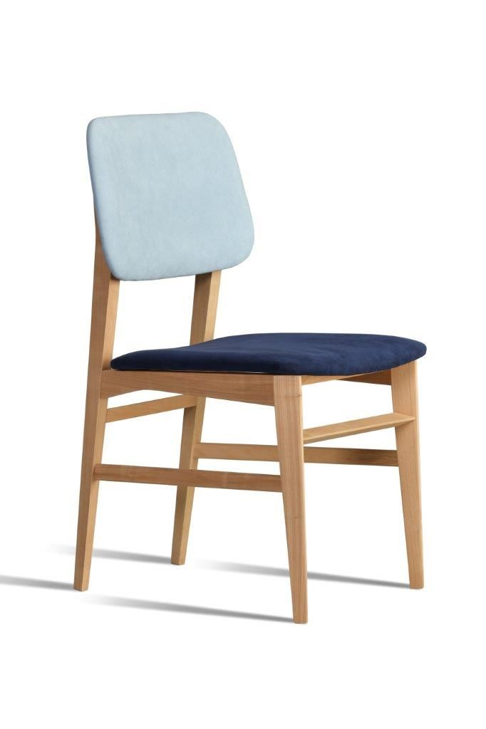 Savina, cair made of cherry wood with upholstered seat and backrest