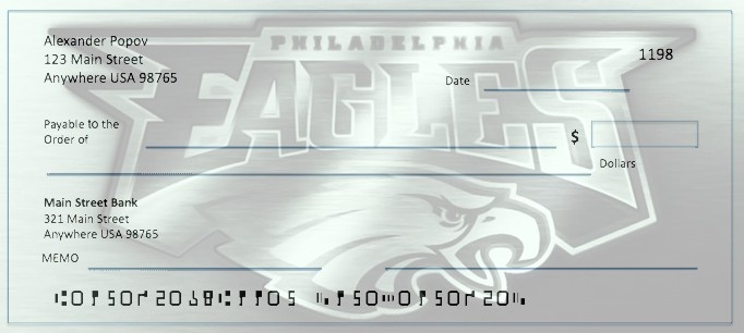 Order Philadelphia Eagles Checks