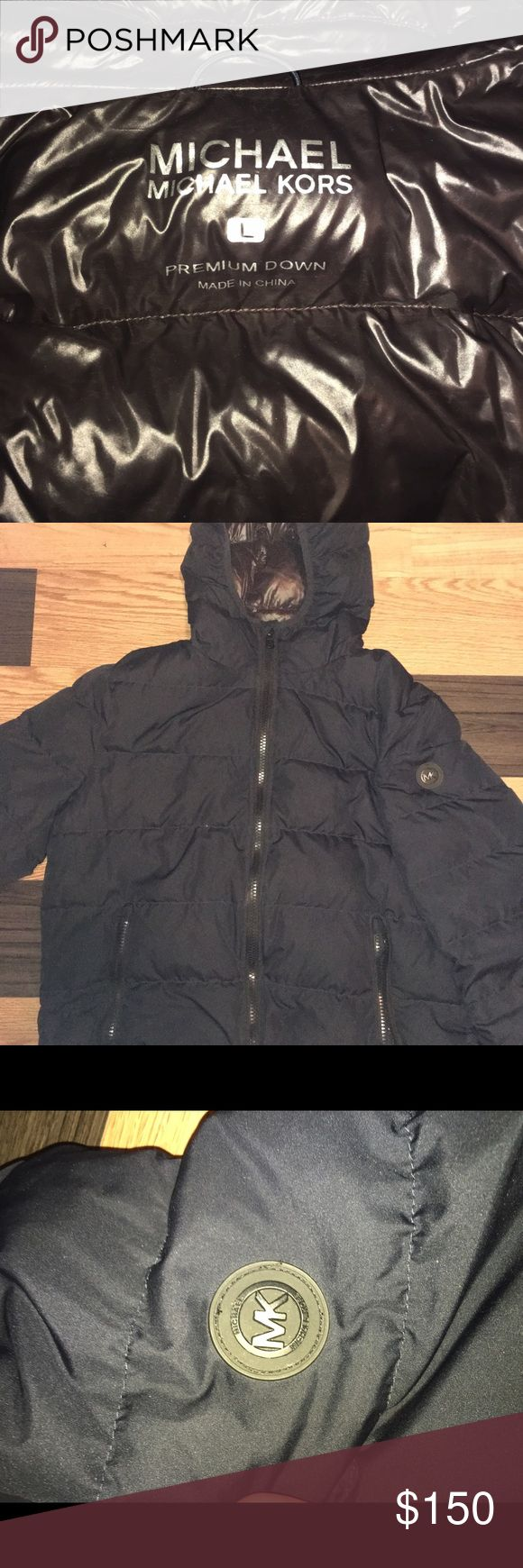 Michael Kors Men jacket Jacket is in like new condition! Great quality and keeps you warm! Navy blue KORS Michael Kors Jackets & Coats Puffers