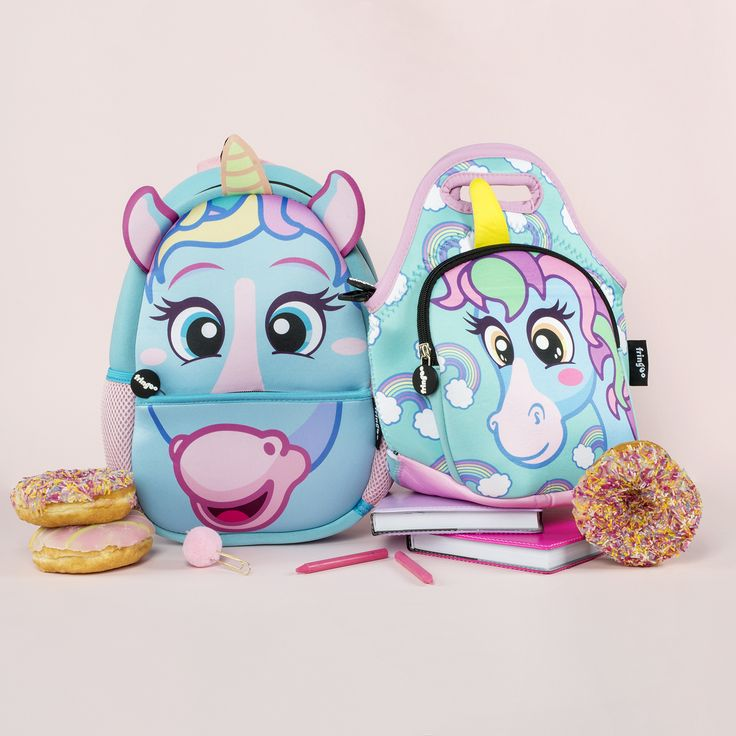 Cute, Unicorn, Toddler Nursery Backpack. Kids Lunch Bag