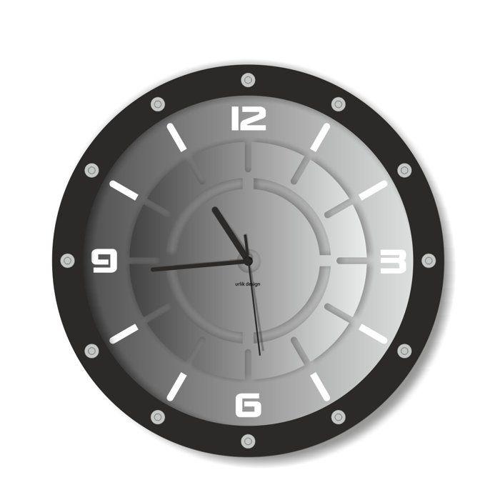 Dekoracyjny zegar ścienny Urlik Design Metro ◾ ◾ PrezentBox