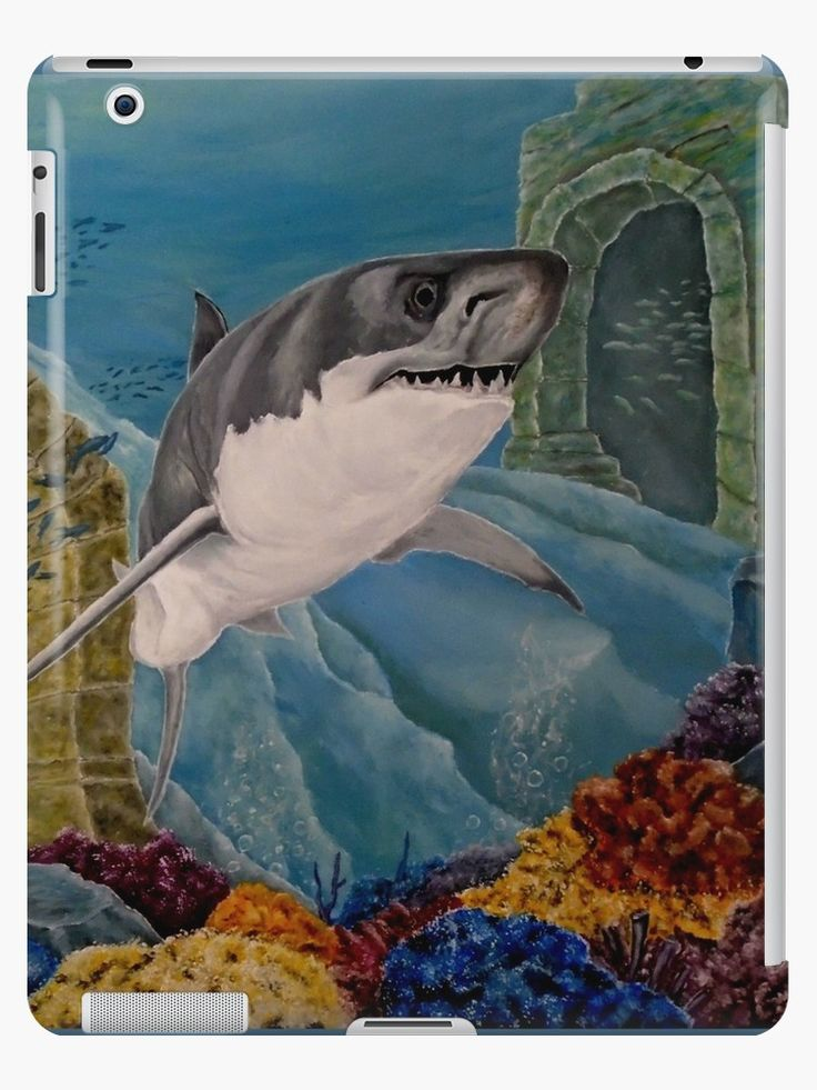 iPad Case/Skin,  unique,cool,fancy,beautiful,trendy,artistic,awesome,unusual,fashionable,accessories,gifts,presents,ideas,design,items,products,for sale,aqua,blue,turquoise,shark,wildlife,redbubble