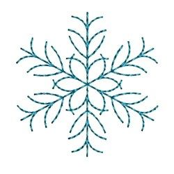Needle Passion Embroidery Embroidery Design: Delicate Snowflake 1.57 inches H x 1.46 inches W