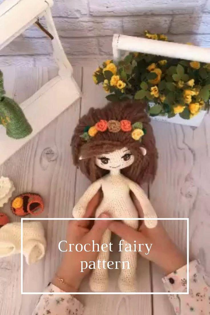 Crochet fairy doll  crochet toy  crochet pattern  stuffed | Etsy [Video] [Video] | Crochet fairy, Crochet, Dolls handmade ▶0:44