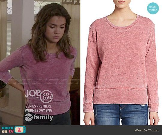 Callie's pink sweatshirt on The Fosters.  Outfit Details: http://wornontv.net/50857/ #TheFosters