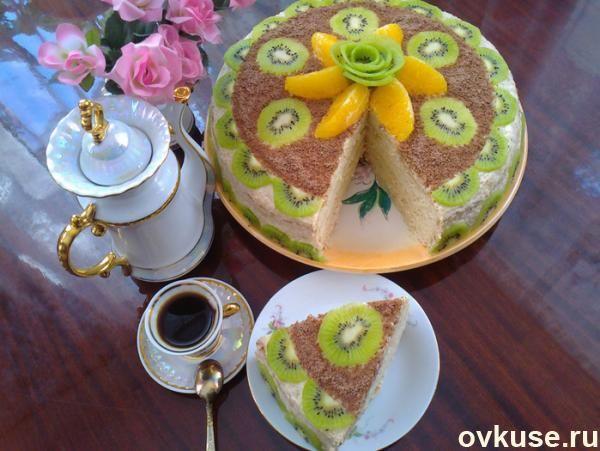 Очень нежный яблочный торт с шикарным кремом