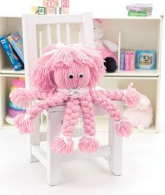 This Super-Easy Yarn Octopus is an adorable homemade toy for kids to make. It's so cuddly!