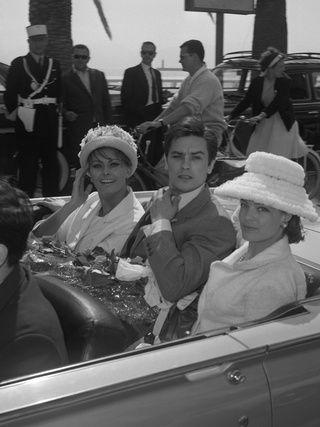 Sophia Loren, Alain Delon et Romy Schneider