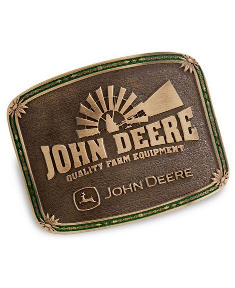 john deere belt buckle   Montana Silversmiths John Deere Windmill Belt Buckle - Sheplers