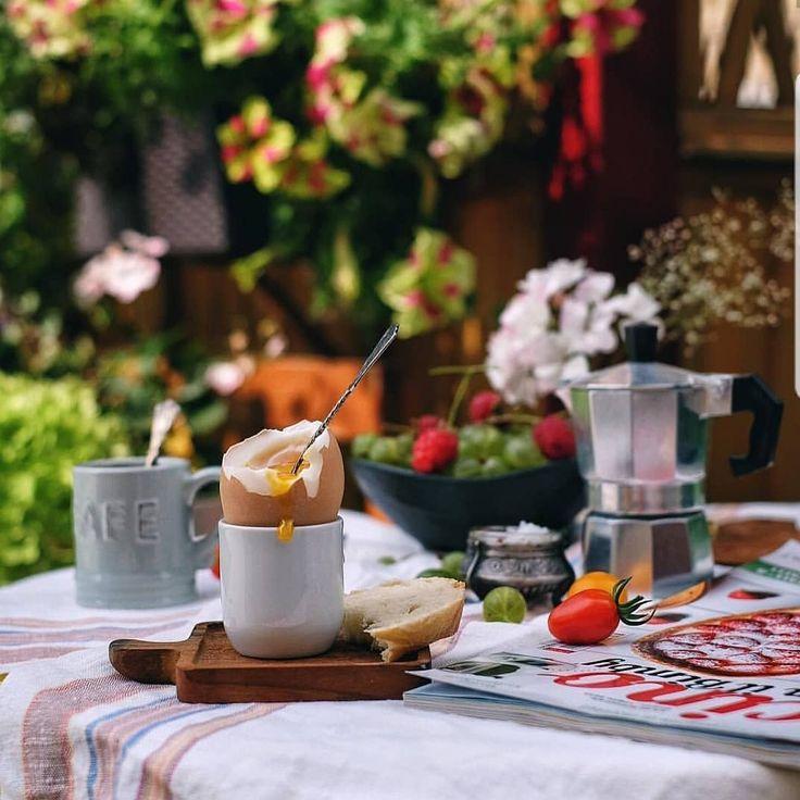Картинки утро завтрак на природе