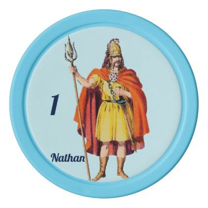 Ancient Briton COSTUME  Personalised NATHAN  Poker Chips Set - traditional gift idea diy unique