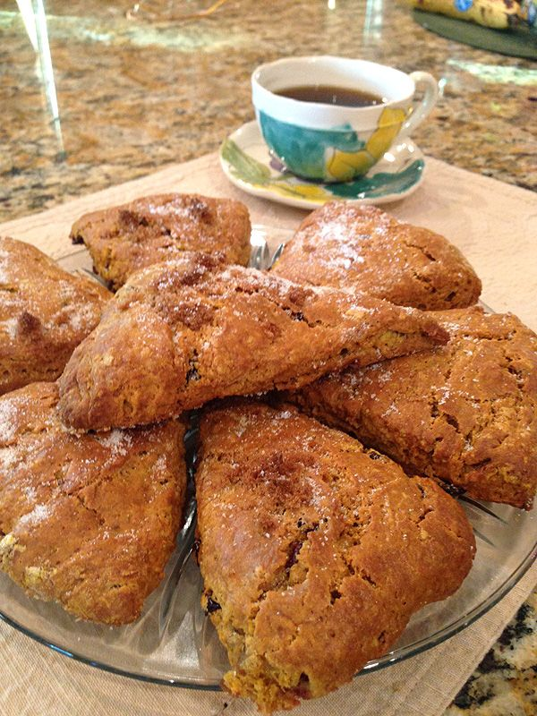 Pumpkin scones—one of the 'Little People, Big World' family's favorite recipes!