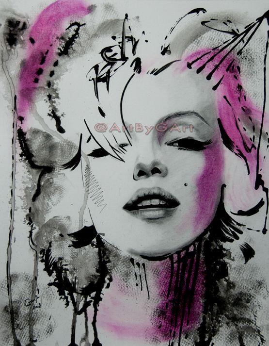 Marilyn Monroe by BladaMerry on DeviantArt    This image first pinned to Marilyn Monroe Art board, here: http://pinterest.com/fairbanksgrafix/marilyn-monroe-art/    #Art #MarilynMonroe