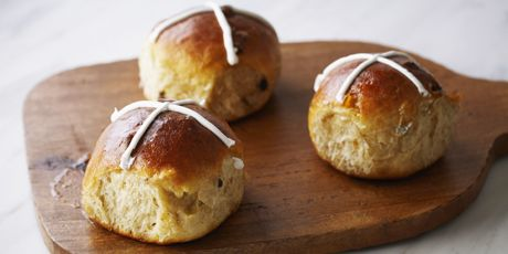 Anna Olson's Hot Cross Buns. These are just like the ones we had growing up, during Easter break.
