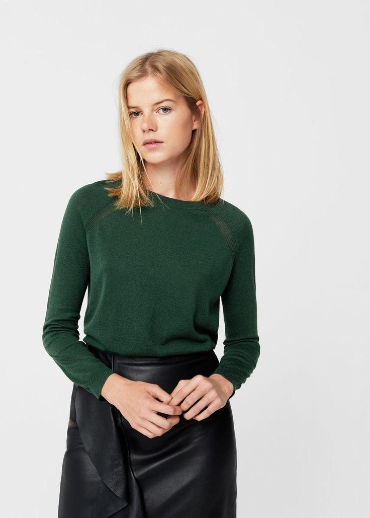Camisola algodão (verde): MANGO (12,99€)