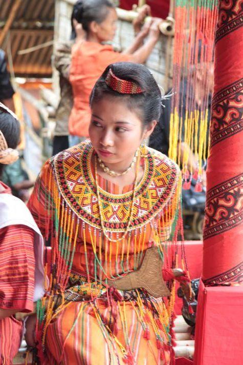 Torajan. Girl in traditional dress, Tana Toraja, Sulawesi.
